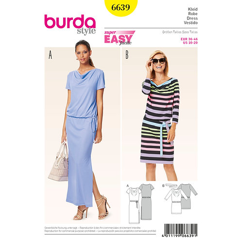 6639 Burda Pattern T-shirt Dress