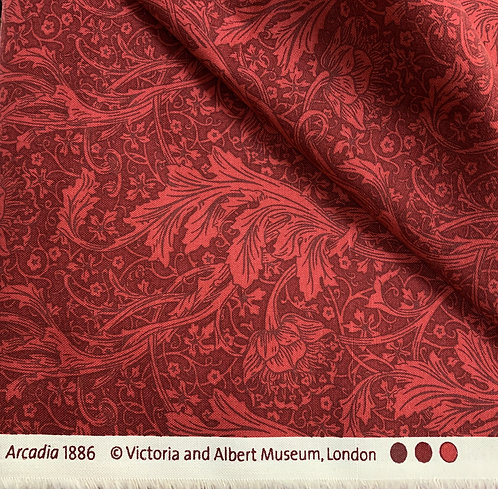 May Morris Arcadia Red 100% Cotton Fabric