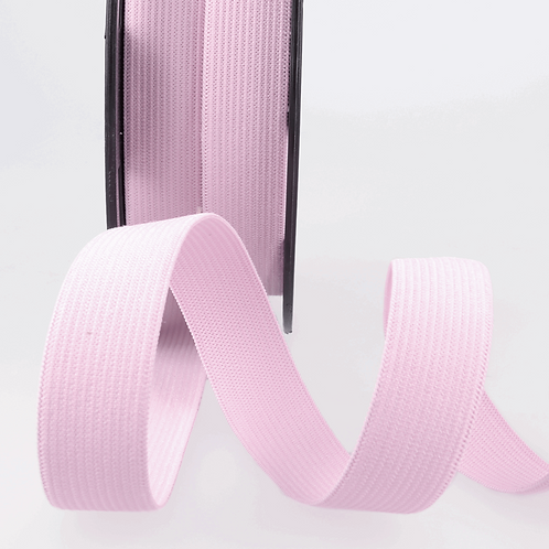 20mm Baby Pink Ribbon Elastic by the metre