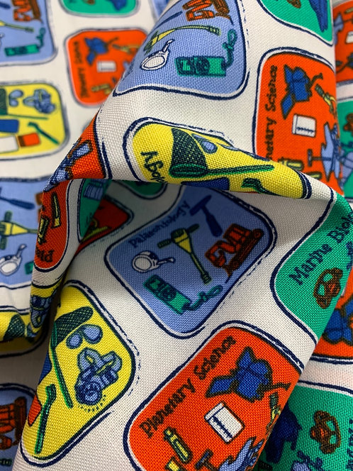 Natural History Museum future science 100% Cotton Fabric