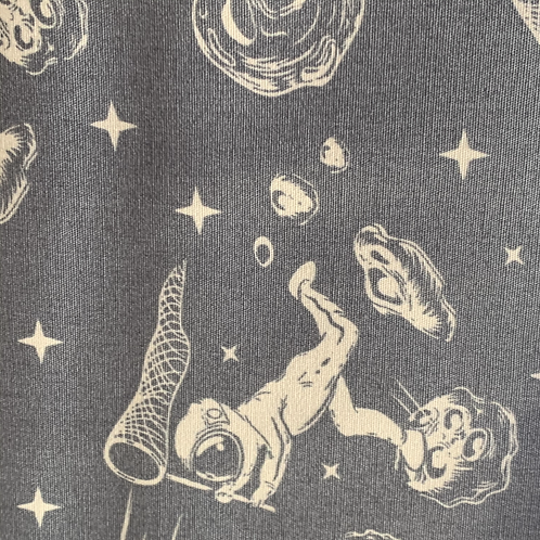 Space Moon Printed Fabric