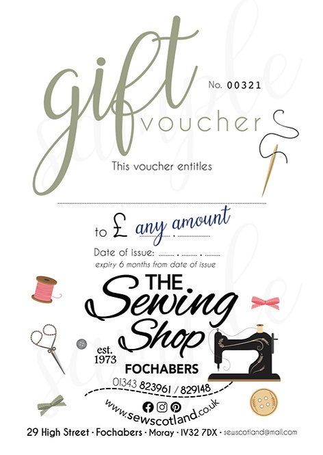 £50 The Sewing Shop Gift Voucher