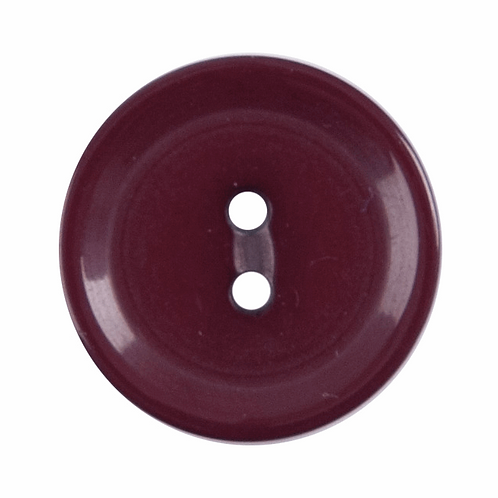 15mm Burgundy 2 hole Button