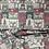 Thumbnail: Festive Christmas Woodland creatures block fabric