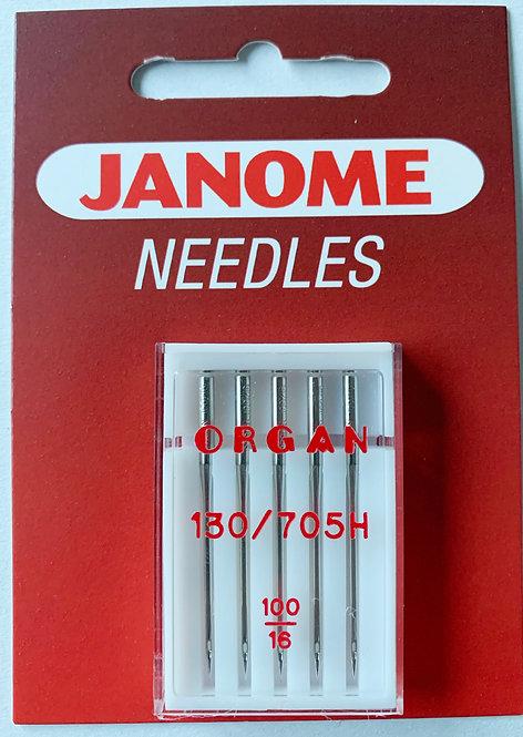 Janome 100/16 Sewing Machine Needles