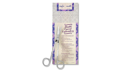 """6"""" Double Curved Embroidery Scissor by Inspira"""
