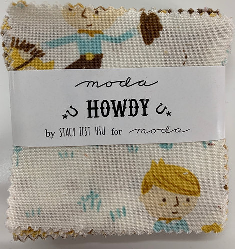 Howdy Moda Mini Charm Fabric Pack