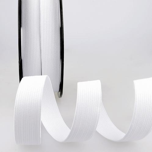 20mm White Ribbon Elastic by the metre