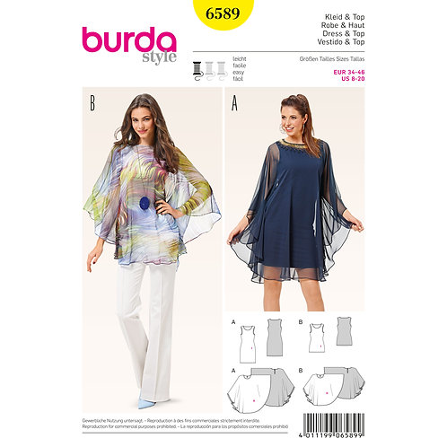 6589 Dress and Top Burda Pattern