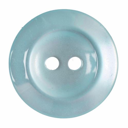 19mm Baby Blue Round Button