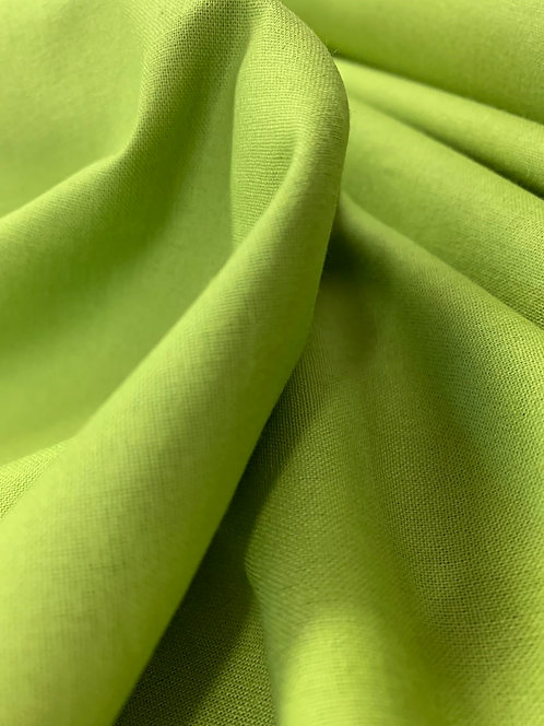 Chartreuse Green 100% Plain Cotton Fabric