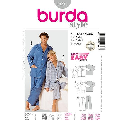 2691 Burda Pattern Loungewear