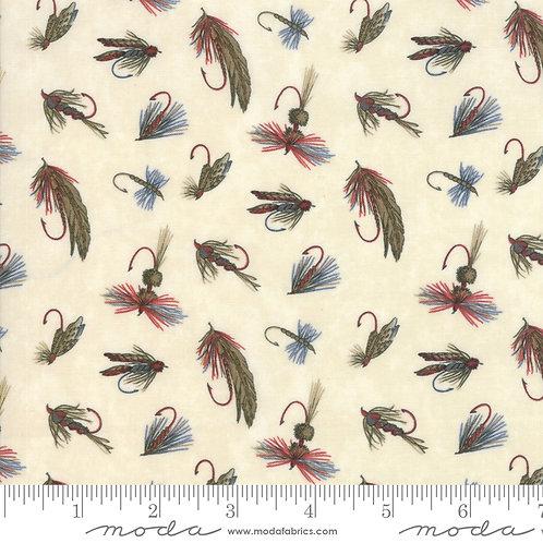 Lake Views Fishing Fly Tie Moda 100% Cotton Fabric