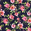 Thumbnail: Navy Rose Large Peached Silky Print Fabric