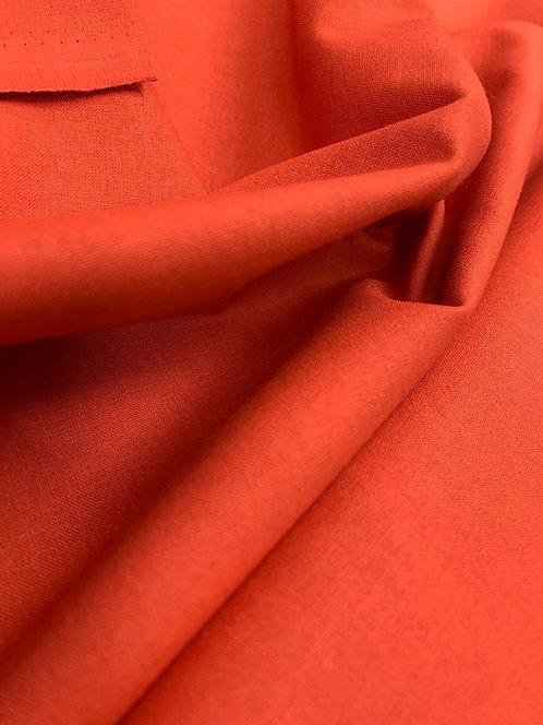 Paprika Orange 100% Plain Cotton Fabric