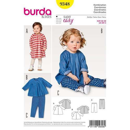 9348 Loose Tunic Dress & Pants Burda Pattern