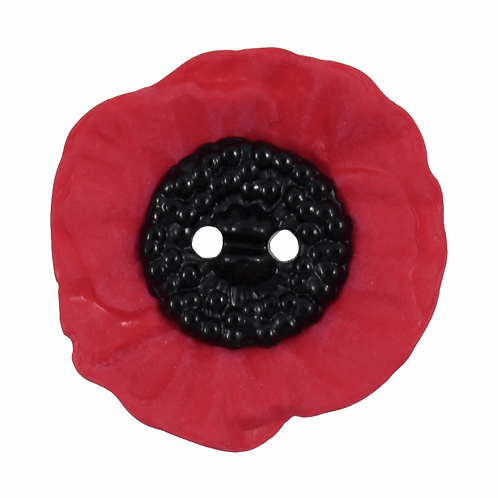 20mm Poppy Button: 2 Hole