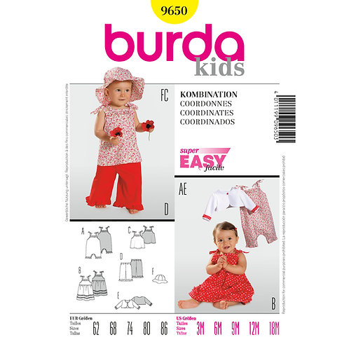 9650 Toddler Coordinates Burda Pattern