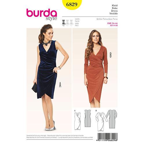 6829 Occasion Dress Burda Pattern