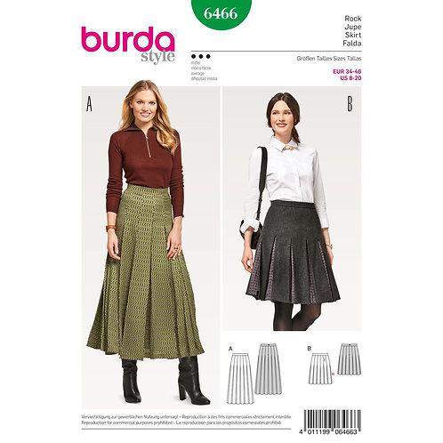 6466 Pleat Full Skirt Burda Pattern
