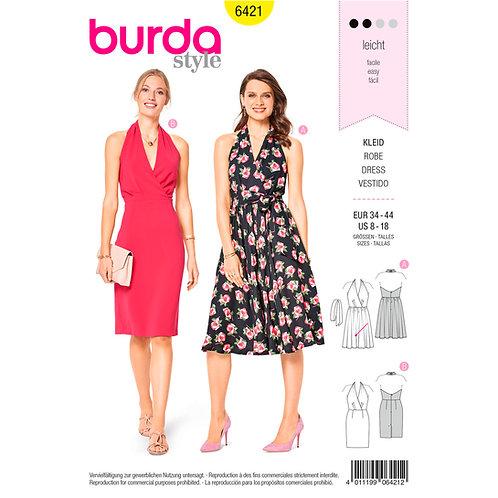 6421 Special Occasion Swing Dress Burda Pattern