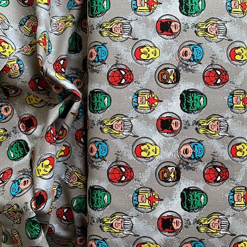 Marvel Retro Characters 100% Cotton Fabric