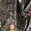 Thumbnail: AGF Grid Black Floral Cotton Fabric