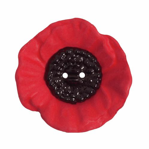 41mm Poppy Button: 2 Hole