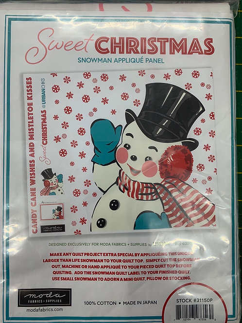 Sweet Christmas Aoplique PANEL by Urban Chiks for Moda 100% Cotton Fabric