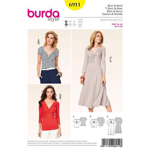 6911 Burda Pattern T-shirt Dress/Top