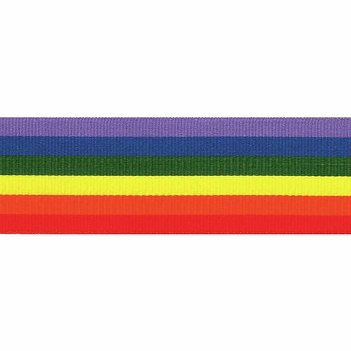 Rainbow Ribbon Crossgrain 15mm