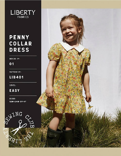 Penny Collar Girls Dress Liberty Pattern