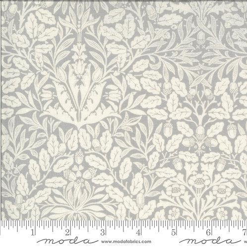 Dover Acorn Damask Grey 100% Cotton Fabric by Moda