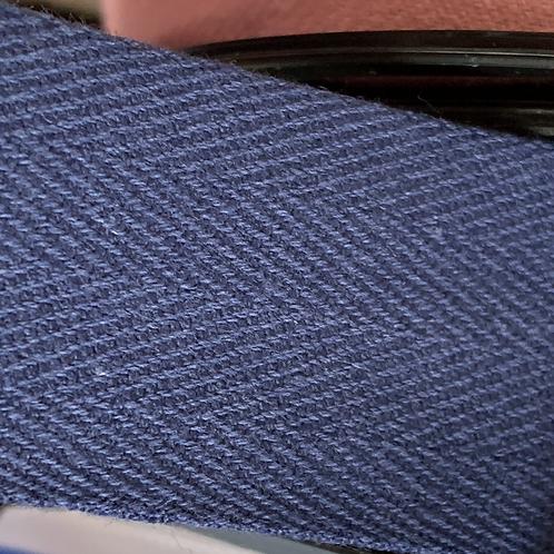 30mm Navy Cotton Twill Herringbone Tape