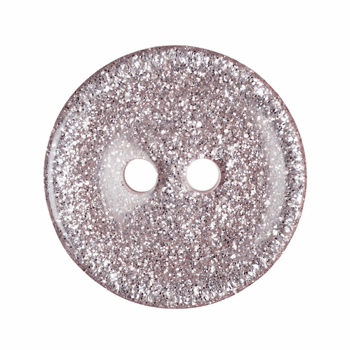 15mm: Light Pink Glitter Round Button