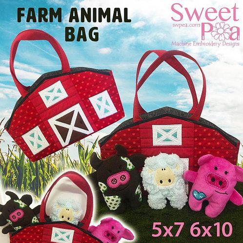 Sweet Pea Farm Animal Bag ITH Embroidery CD
