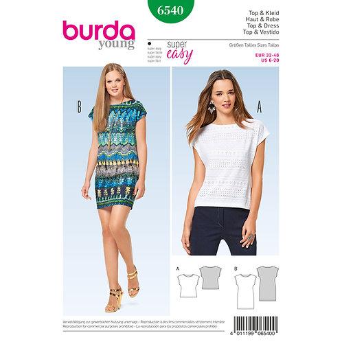 6540 Burda Pattern T-shirt Dress/Top