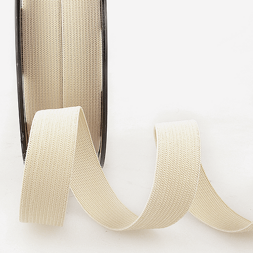 20mm Beige Cream Ribbon Elastic by the metre