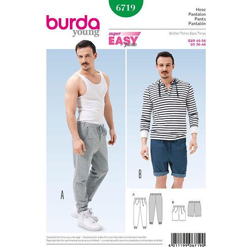 6719 Burda Pattern Men's Jogging Pants
