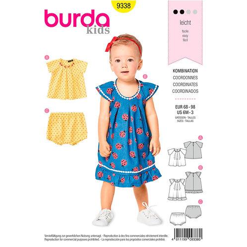 9338 Toddler Blouse/Dress Burda Pattern
