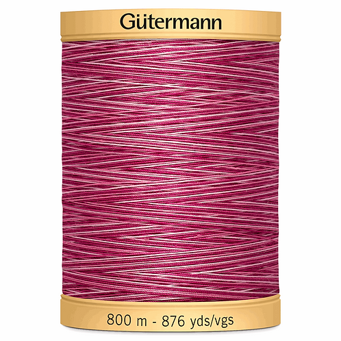 Cotton Thread 800m Variegated Pinks