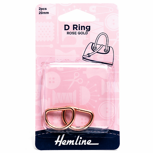 D Ring: 20mm: Rose Gold: 2 Pieces