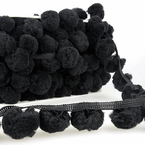 50mm Large Black PomPom Trim