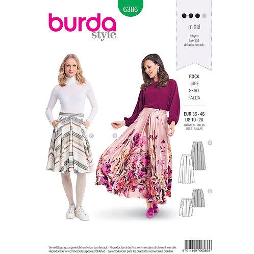 6386 Pleat Full Skirt Burda Pattern