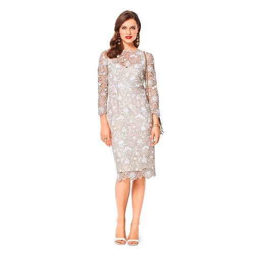 6423 Special Occasion Strap Dress Burda Pattern