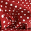 Thumbnail: Red Polka Dot Spot My Redwork Garden by Bunnyhill Designs for Moda