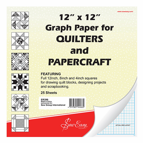 Graph Paper: Quilter's: 12 x 12in