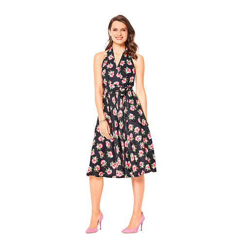 6421 Swing Halter Neck Dress Burda Pattern