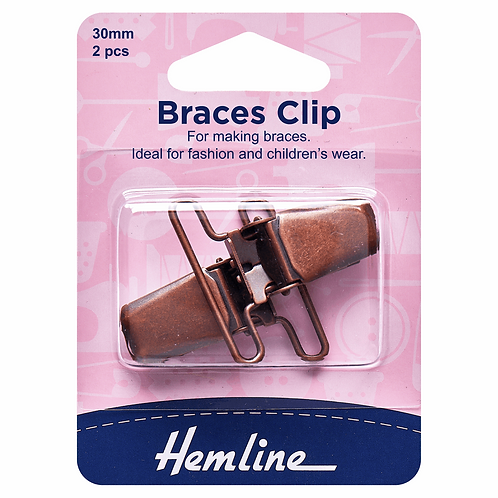 Clips for Dungaree and Braces, Bronze