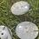 Thumbnail: 18mm 2 hole White Rainbow Twinkle Button